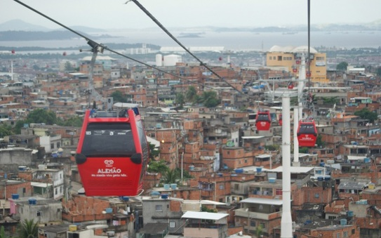 Travelling through the favelas: A cable car ride over Rio de Janeiro's slums