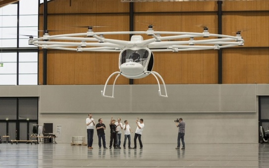 A flying EV? The Volocopter comes close