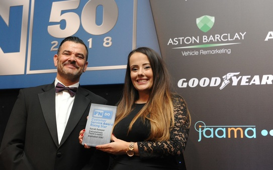 Alphabet's 'rising stars' recognised at FN50 Customer Service Awards 2018
