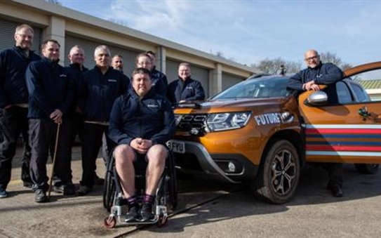 Dacia teams up with future terrain supporting rehabilitation for service personnel