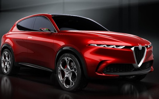 Italian preview of the Alfa Romeo Tonale Concept Car at the Salone Del Mobile