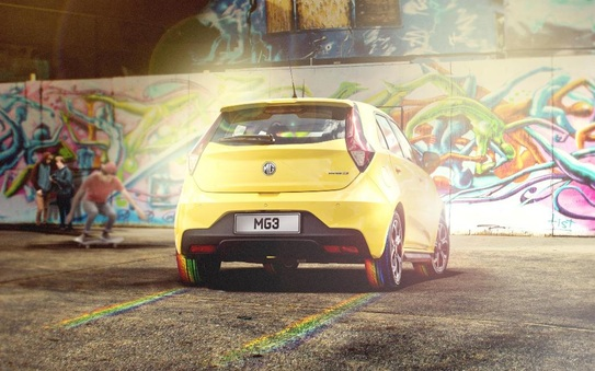 "Mg Motor UK presents tyres to literally ""colour the road"""