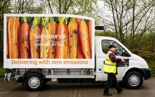 Sainsbury's trials electric vans for home deliveries