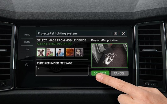 Škoda saves forgetful drivers with new projectapal LED reminder system