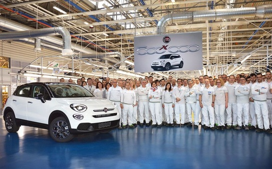 Fiat 500X reaches 500,000 production milestone