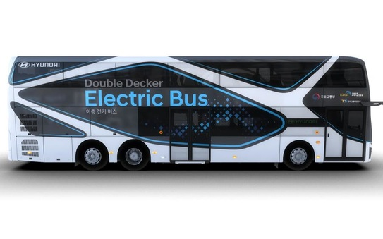 Hyundai Motor introduces electric double-decker bus