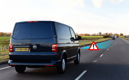 Van drivers cause 10 injuries a week from tailgating on UK roads