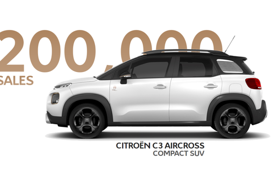 Citroën C3 Aircross Compact SUV: 200,000 sales already