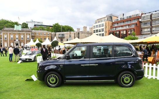 LEVC is proud to display the TX electric cab at the London Concours