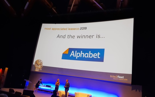 Alphabet Belgium wint de Most Appreciated Leaseco 2019 Award