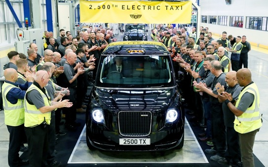 LEVC celebrates production of the 2500th electric taxi