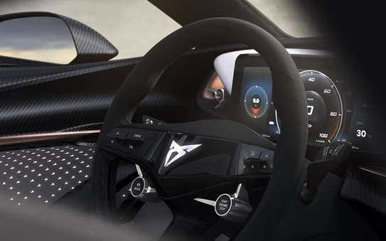 Cupra electrifies: Cupra teases the interior of all-electric concept-car