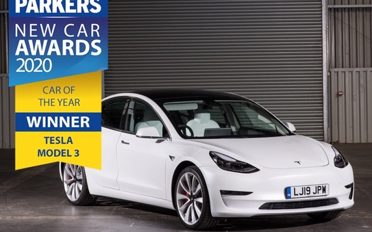 Parkers 2020 Car of the Year is the Tesla Model 3