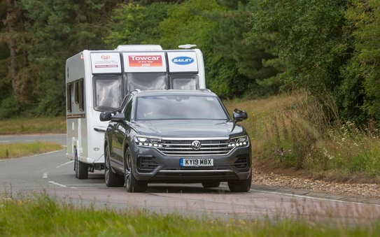 Touareg triumphs in Caravan and Motorhome Club's Towcar of the Year Awards
