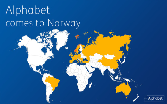 Alphabet adds Norway to its service offering